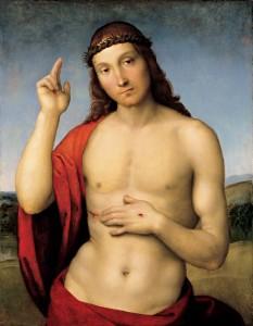 """Raffaello Sanzio, """"Cristo benedicente"""" (1505, Pinacoteca Tosio Martinengo di Brescia)"""