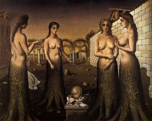 Paul Delvaux, Donne
