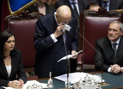 Giorgio Napolitano, Discorso di insediamento
