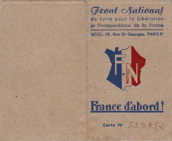 Carte_Front-National_1944_recto