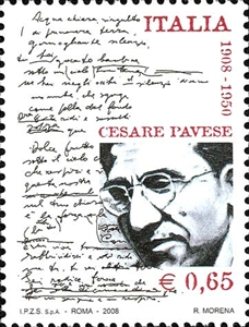 """Cesare Pavese, francobollo"""