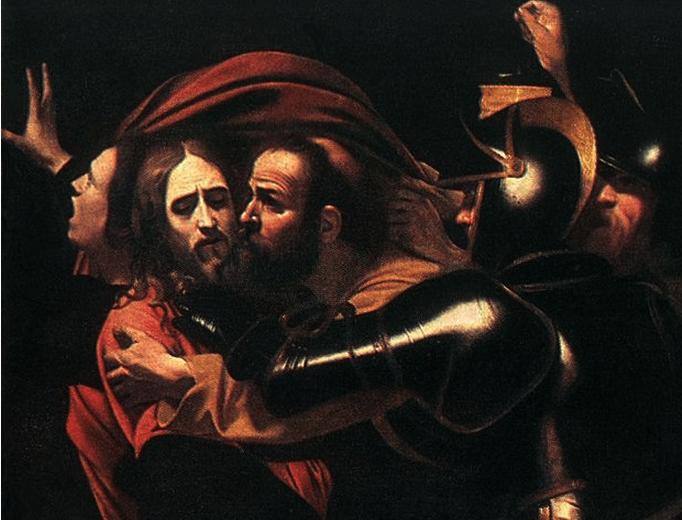 """""""Caravaggio, Il bacio di Giuda, Giovanni Testori"""""""