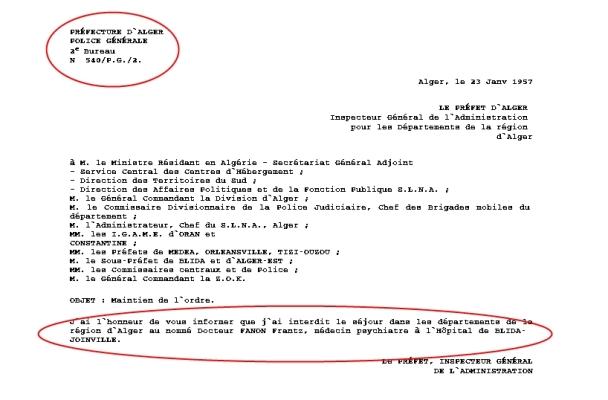 """""""Frantz Fanon: Interdition de séjour"""""""